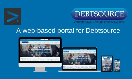 Debtsource's web-based portal with Netgen