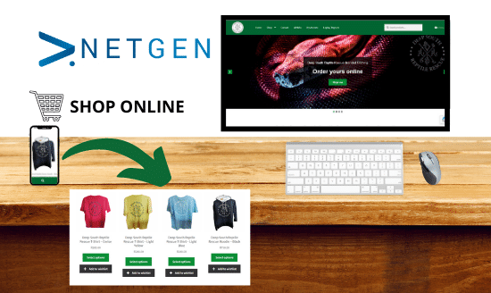 Netgen creates ecommerce store for Deep South Reptile Rescue